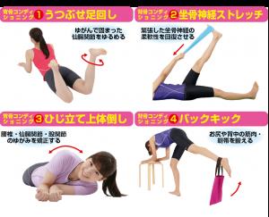 背骨コンディショニングの運動